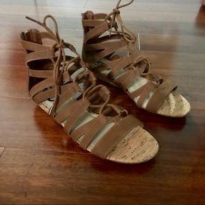 Circus by Sam Edelman Brown Alba gladiator sandal